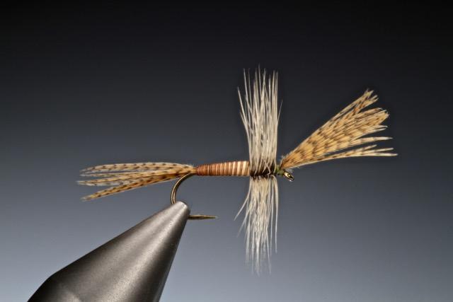 fly tying Moose mane cripple dun