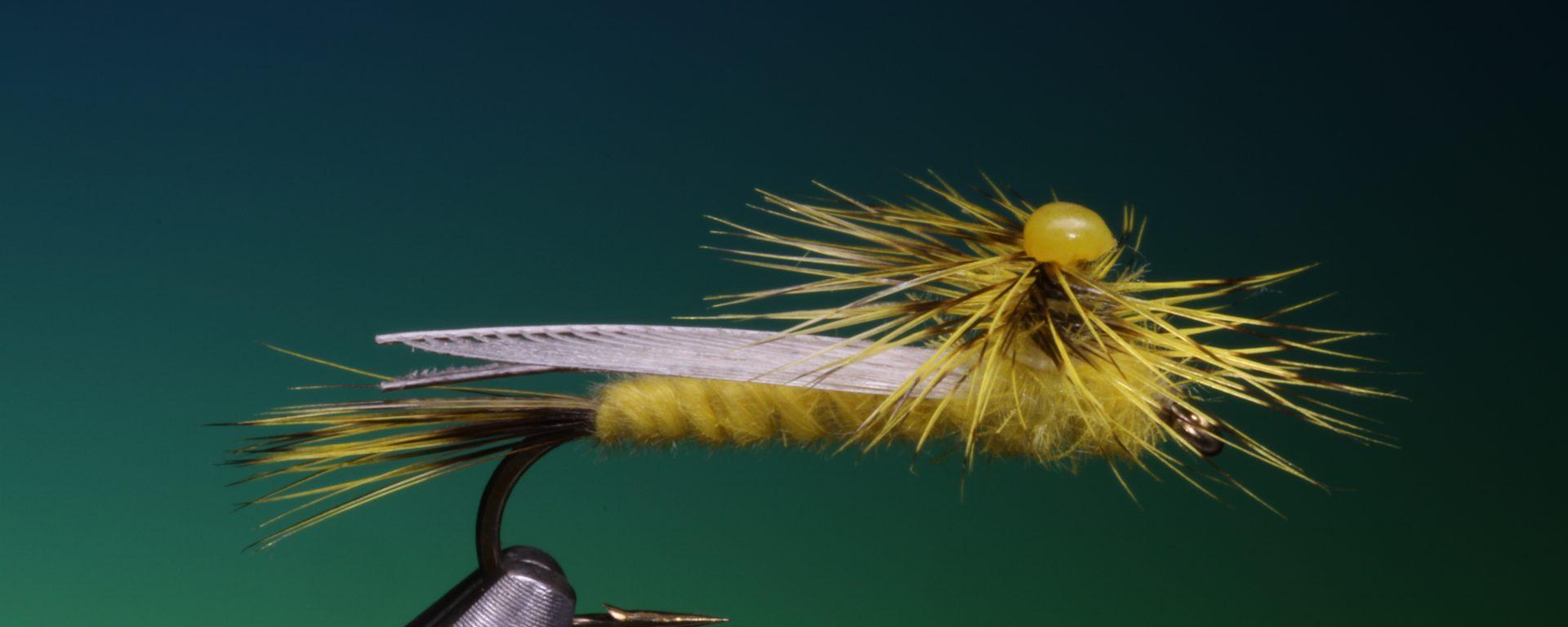 fly tying Yellow Sally stonefly