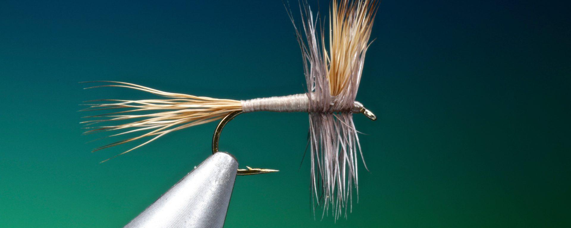 fly tying Grey Wulff dry fly