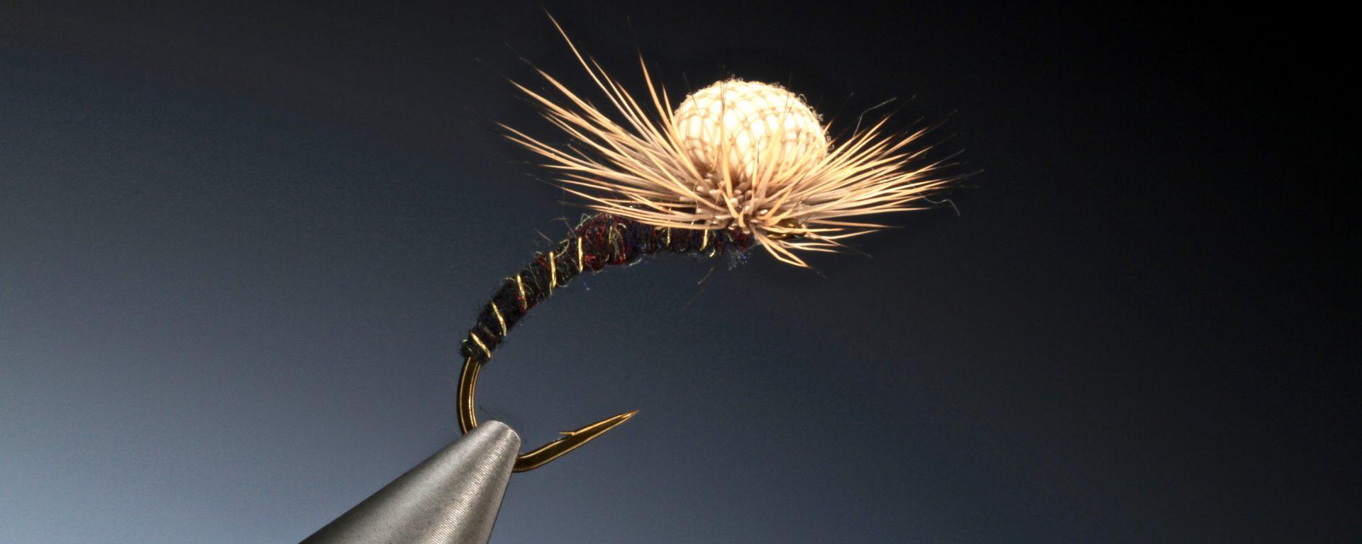 fly tying Deer hair hackle suspender midge
