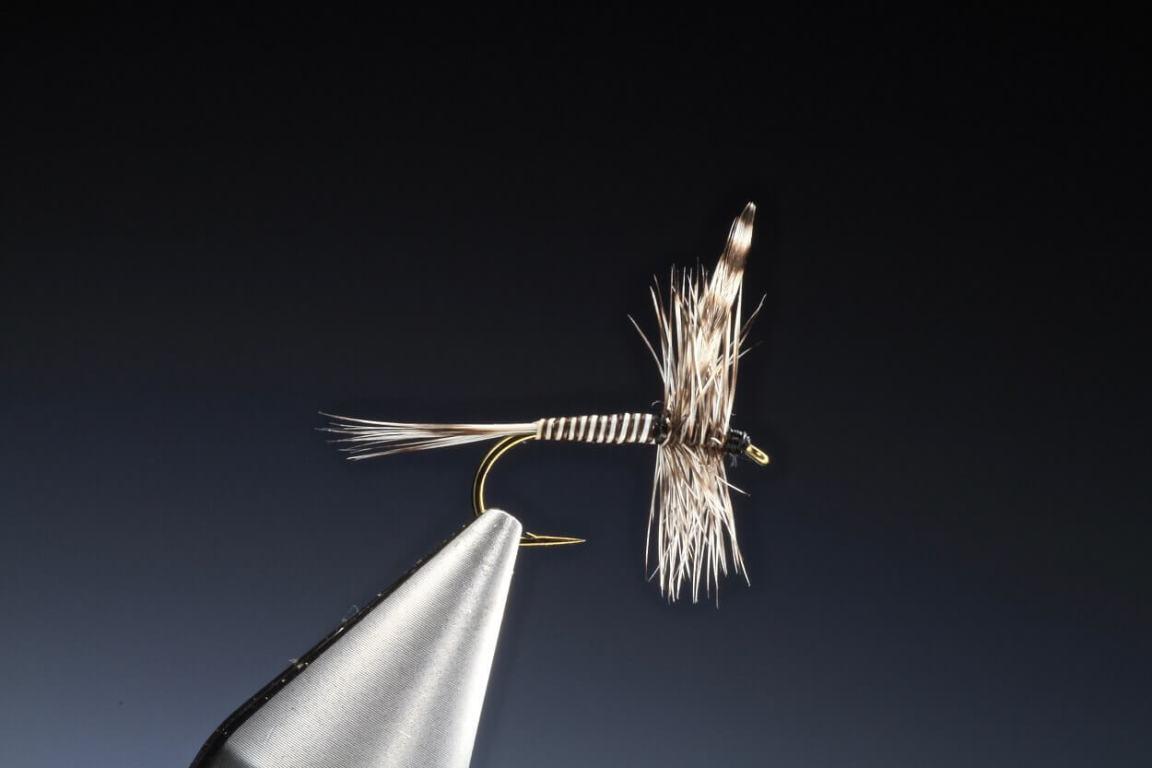 How to tie mosquito or midge dry fly