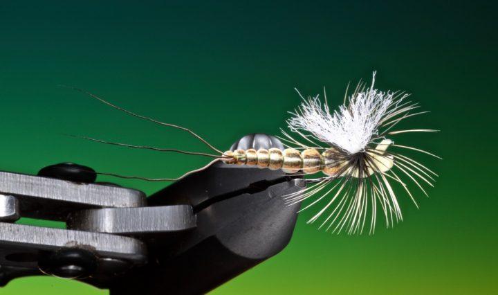 fly tying foam body mayfly technique
