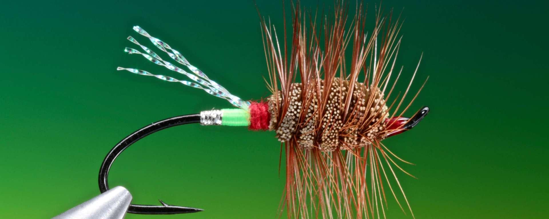 fly tying Green Machine dry fly